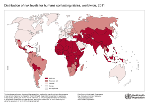 Risk of human rabies, 2011
