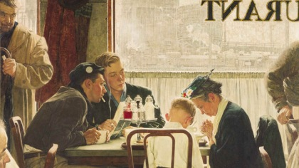 """Saying Grace"" by Norman Rockwell (1951)"