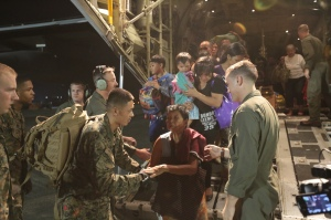 US Marines were among the many that aided in the relief efforts.