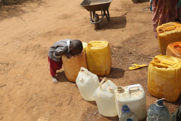 Aid projects can help young children in Africa obtain access to fresh drinking water.