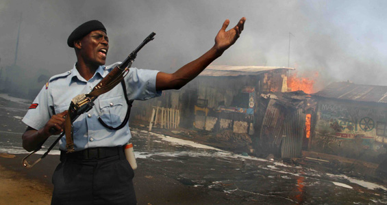 The Kenyan presidential elections in December 2007 triggered a wave of violence.