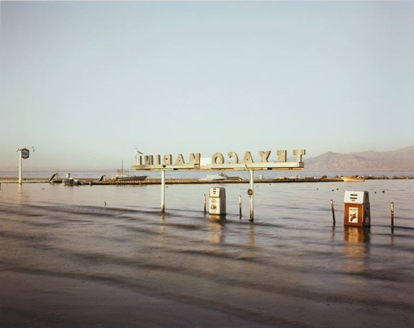 "Flooded Marina (Gas Pumps)"" by Richard Misrach"